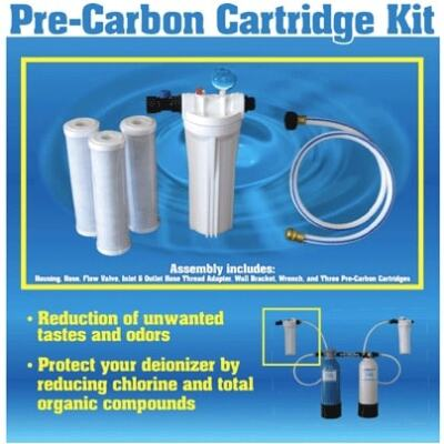 "Pre-Carbon Blk Cartridge Kit - 10"" x 2.5"""