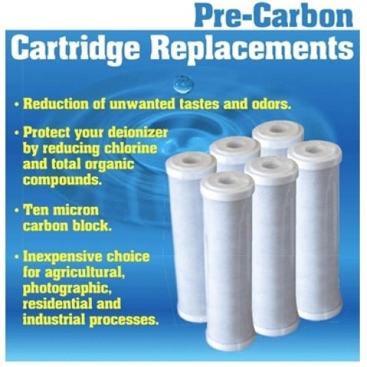 "Pre-Carbon Blk Cartridge Filters - 20"" x 4.5"""