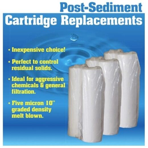 "Post-Sediment Cartridge Filters - 10"" x 2.5"""