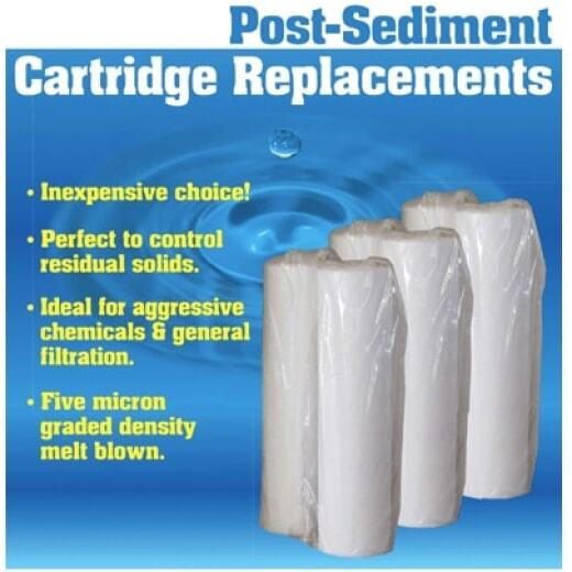 "Post-Sediment Cartridge Filters - 20"" x 2.5"""